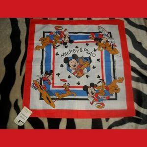 Mickey Mouse & Pluto Bandana Scarf BNWT